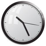 белизна вектора офиса часов предпосылки изолированная иллюстрацией Стоковые Изображения