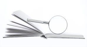 белизна вектора предпосылки стеклянной изолированная иллюстрацией увеличивая Стоковая Фотография RF