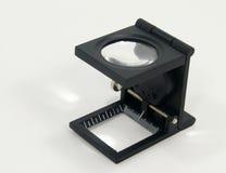 белизна вектора предпосылки стеклянной изолированная иллюстрацией увеличивая Стоковые Фото