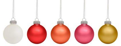 белизна вектора рождества baubles изолированная иллюстрацией Стоковые Изображения RF