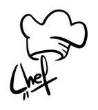 белизна вектора символа черной иллюстрации шеф-повара просто Стоковая Фотография