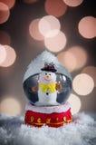 белизна вектора снежка глобуса изолированная иллюстрацией Стоковые Фото