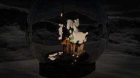 белизна вектора снежка глобуса изолированная иллюстрацией видеоматериал