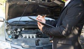 белизна вектора страхсбора иллюстрации автомобиля предпосылки Стоковая Фотография RF