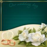 белизна венчания вектора приглашения чертежей карточки предпосылки Стоковая Фотография