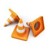 белизна движения конусов предпосылки 3d изолированная изображением бесплатная иллюстрация