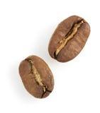 белизна вида спереди фокуса кофе крупного плана фасолей фасоли Стоковые Фото