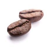 белизна вида спереди фокуса кофе крупного плана фасолей фасоли Стоковая Фотография