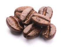 белизна вида спереди фокуса кофе крупного плана фасолей фасоли Стоковое фото RF