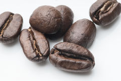 белизна вида спереди фокуса кофе крупного плана фасолей фасоли сфокусируйте мягко Стоковые Изображения