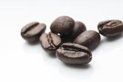 белизна вида спереди фокуса кофе крупного плана фасолей фасоли сфокусируйте мягко Стоковые Изображения RF