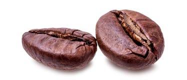 белизна вида спереди фокуса кофе крупного плана фасолей фасоли Стоковые Фотографии RF