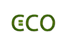 белизна воска знака формы уплотнения листьев eco зеленая изолированная Стоковые Изображения RF