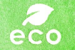 белизна воска знака формы уплотнения листьев eco зеленая изолированная Стоковое фото RF