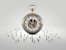 белизна времени предмета предпосылки изолированная принципиальной схемой Стоковые Изображения