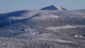 Белизна в гигантских горах/Karkonosze Стоковое Изображение