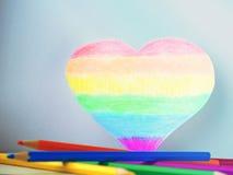белизна влюбленности иллюстрации сердца цветов абстрактной предпосылки цветастая Стоковое фото RF