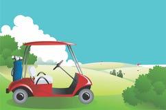 белизна гольфа автомобиля предпосылки классицистическая цветастая Стоковое Фото