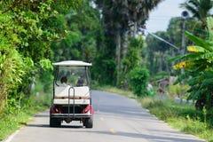 белизна гольфа автомобиля предпосылки классицистическая цветастая Стоковые Фото