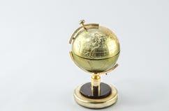 белизна глобуса предпосылки золотистая Стоковое Изображение RF