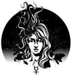 белизна девушки летания предпосылки изолированная волосами иллюстрация вектора
