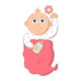 белизна девушки предпосылки младенца Стоковые Фото