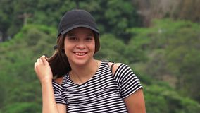 белизна девушки счастливая изолированная ся предназначенная для подростков Стоковое Изображение RF