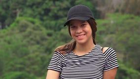 белизна девушки счастливая изолированная ся предназначенная для подростков Стоковые Фотографии RF