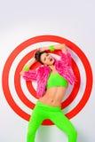 белизна девушки танцы изолированная Стоковые Фотографии RF