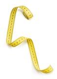 белизна ленты предпосылки измеряя Стоковая Фотография