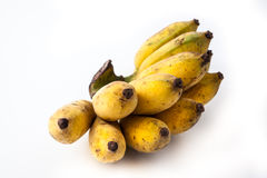 белизна еды банана предпосылки вегетарианская стоковые изображения rf