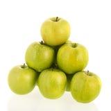 белизна зеленого цвета предпосылки яблок Стоковые Фотографии RF