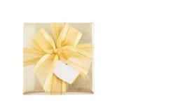 белизна золота подарка коробки предпосылки Стоковое фото RF