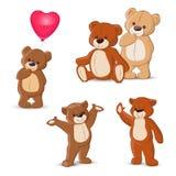 белизна игрушечного медведей предпосылки изолированная иллюстрацией установленная Стоковые Фото