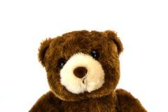 белизна игрушечного медведя предпосылки Стоковые Фотографии RF