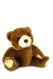 белизна игрушечного медведя предпосылки Стоковое Изображение RF