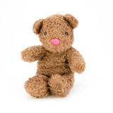 белизна игрушечного предпосылки изолированная медведем Стоковое фото RF