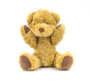 белизна игрушки коричневого цвета медведя предпосылки Стоковые Изображения RF