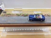 белизна игрушки предпосылки изолированная автомобилем Стоковые Изображения RF