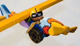 белизна игрушки самолета изолированная предпосылкой Стоковое Фото