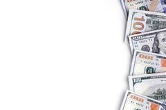 белизна изображения долларов предпосылки 3d Стоковые Изображения RF