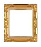 белизна изображения рамки изолированная золотом Стоковые Фотографии RF