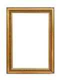 белизна изображения рамки изолированная золотом Стоковое Изображение RF
