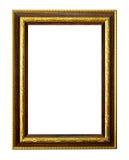 белизна изображения рамки изолированная золотом Стоковые Фото