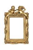 белизна изображения рамки изолированная золотом Стоковые Изображения