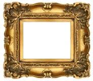 белизна изображения рамки изолированная золотом стоковое фото