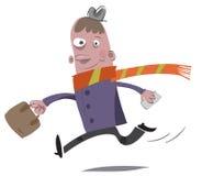 белизна изолированная бизнесменом идущая Стоковое Изображение