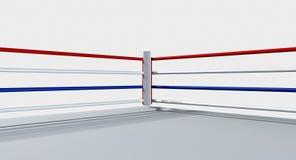Белизна изолированная боксерским рингом Стоковая Фотография