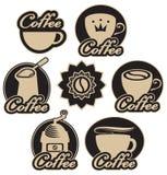 белизна изолированная кофе установленная Стоковые Фото