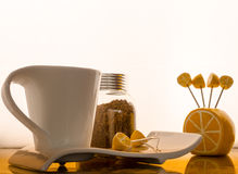 белизна изолированная кофе установленная Стоковое Изображение RF